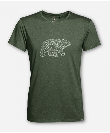 MEN BEAR MAP WOODSHIRT von wijld