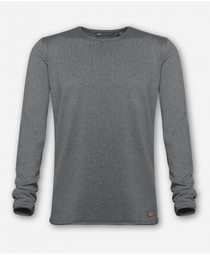 MEN WOVEN GRAY KNITTED SWEATER
