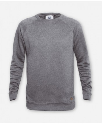 MEN GRAY MELANGE SWEATER