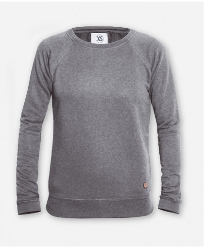 WOMEN GRAY MELANGE SWEATER