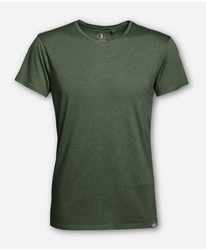 MEN GREEN MELANGE WOODSHIRT