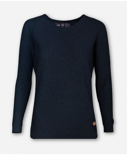 WOMEN INDIGO BLUE KNITTED SWEATER BRANCH