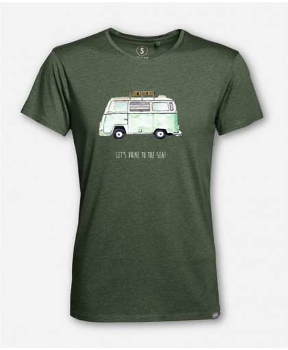 MEN LET'S DRIVE TO THE SEA WOODSHIRT von everywhere you go