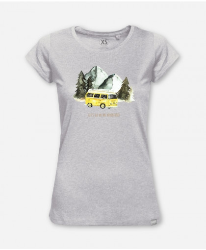 WOMEN LET'S GO ON AN ADVENTURE WOODSHIRT von everywhere you go