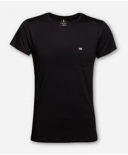 MEN POCKET BLACK WOODSHIRT