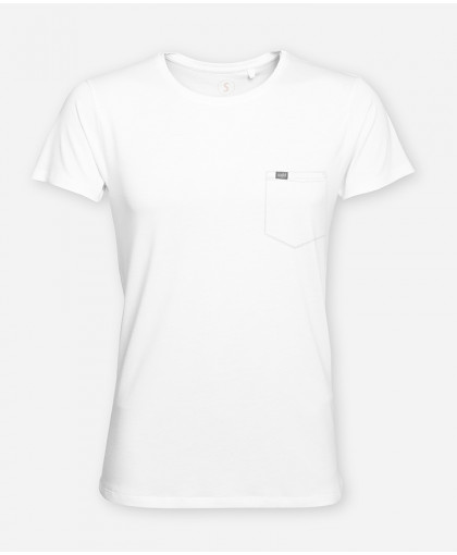 MEN POCKET BRIGHT WHITE WOODSHIRT