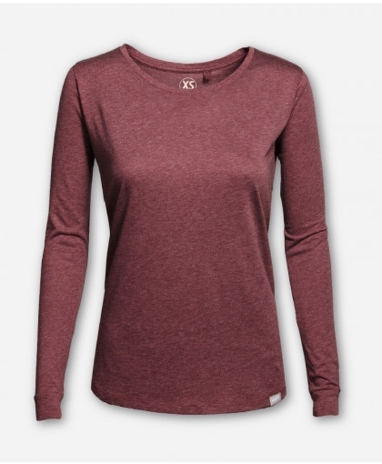 WOMEN RED MELANGE LONGSLEEVE