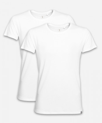 MEN BRIGHT WHITE DOUBLE WOODSHIRT