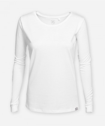 DAMEN LANGARMSHIRT BRIGHT WHITE