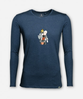 MEN CHASING THAT POWDER LONGSLEEVE von Laura Feller