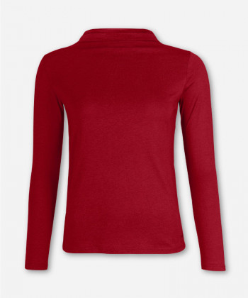 WOMEN MERLOT LONGSLEEVE FUNNEL NECK