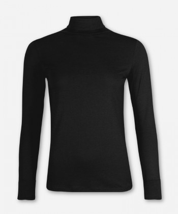 WOMEN BLACK LONGSLEEVE TURTLE NECK
