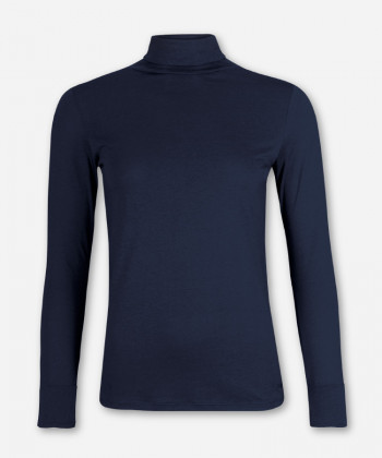 WOMEN MARITIM BLUE LONGSLEEVE TURTLE NECK