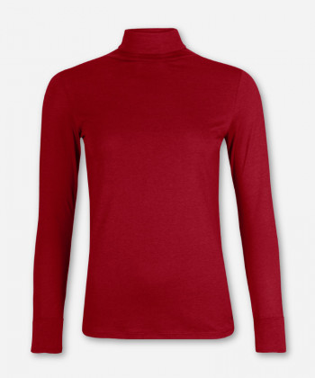 WOMEN MERLOT LONGSLEEVE TURTLE NECK