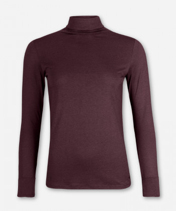 WOMEN PURPLE LONGSLEEVE TURTLE NECK