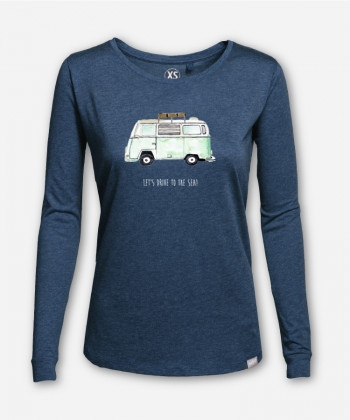 WOMEN LET'S DRIVE TO THE SEA LONGSLEEVE von everywhere you go