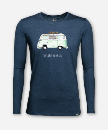 MEN LET'S DRIVE TO THE SEA LONGSLEEVE von everywhere you go