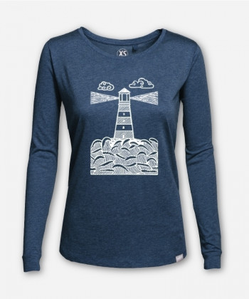 WOMEN LINOCUT-LIGHTHOUSE LONGSLEEVE von Linoart