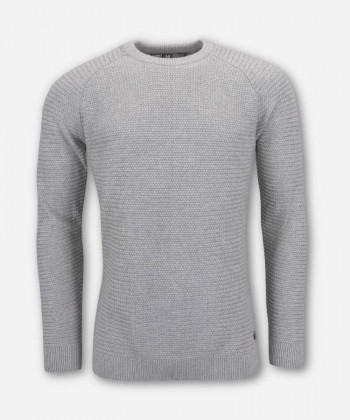 MEN WOVEN GRAY KNITTED SWEATER PANDOO