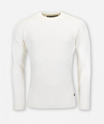 MEN IVORY KNITTED SWEATER PANDOO