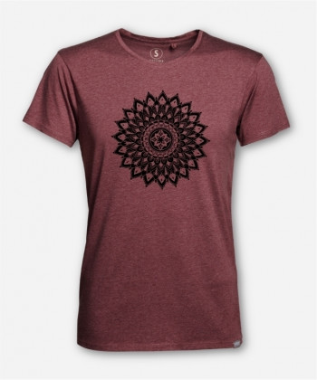 MEN MANDALA FLOWER WOODSHIRT von Maura Cruma