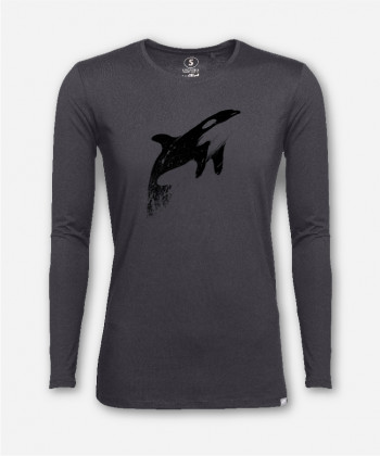MEN ORCAS CAN FLY LONGSLEEVE von martinskowsky
