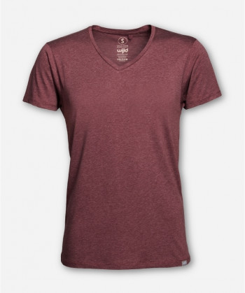MEN V-NECK RED MELANGE WOODSHIRT