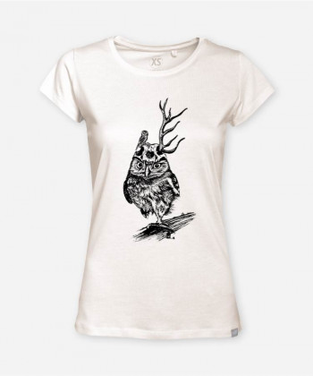 WOMEN WARRIOR OWL WOODSHIRT von camarocaro