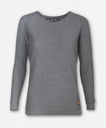 WOMEN WOVEN GRAY KNITTED SWEATER BRANCH