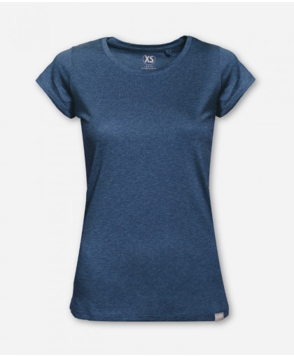 WOMEN BLUE MELANGE WOODSHIRT
