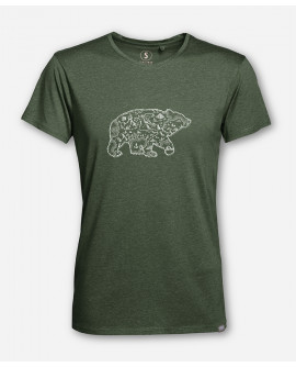 MEN BEAR MAP WOODSHIRT by wijld