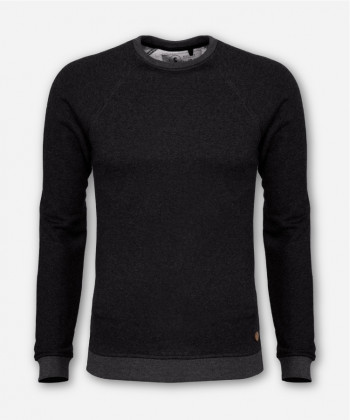 MEN LUMBER SWEATER ANTHRACITE