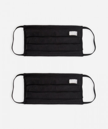 FACEMASK MADE OF WOOD BLACK DOUBLE PACK
