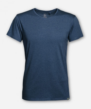 MEN BLUE MELANGE WOODSHIRT