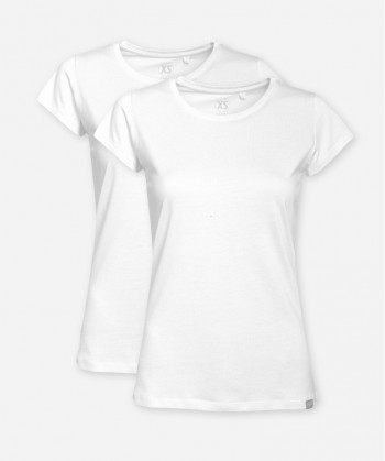 WOMEN BRIGHT WHITE DOUBLE WOODSHIRT