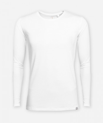 MEN BRIGHT WHITE LONGSLEEVE