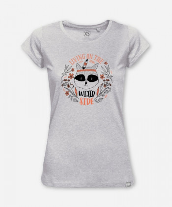 WOMEN FUNKY RACOON WOODSHIRT by wijld