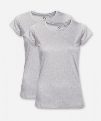 WOMEN GRAY MELANGE DOUBLE WOODSHIRT