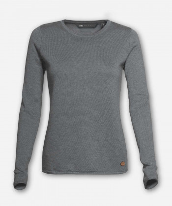 WOMEN WOVEN GRAY KNITTED SWEATER