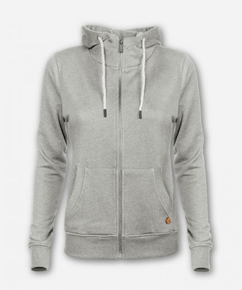 WOMEN TIMBER ZIP-HOODIE LIGHT GRAY