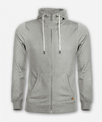 MEN TIMBER ZIP-HOODIE LIGHT GRAY