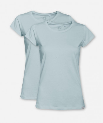 WOMEN MISTY BLUE DOUBLE WOODSHIRT