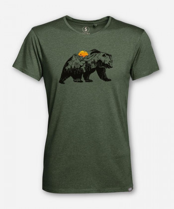 MEN SUNSET BEAR WOODSHIRT by wijld