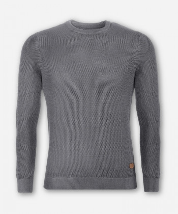 MEN GROVE KNITTED SWEATER WOVEN GRAY