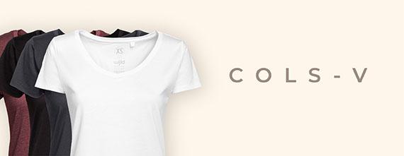 T-shirts en bois pour femmes col en V