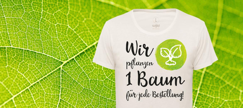 mit nachhaltiger Kleidung Bäume pflanzen