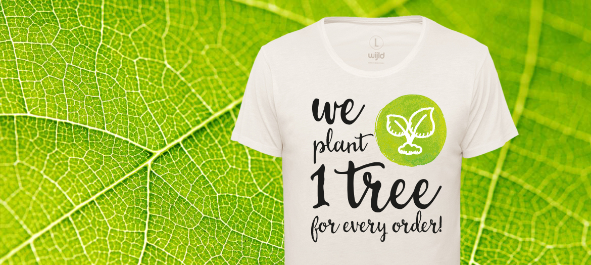 you buy sustainable fashion, we plant trees