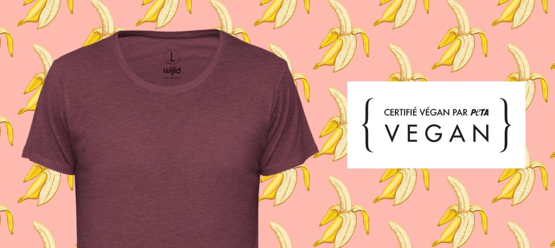 vegane T-Shirts von wijld sind nachhaltig und fair gefertigt sowie PETA approved
