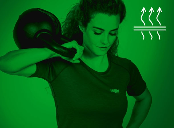 Sportshirts von wijld bieten ein optimales Hautklima