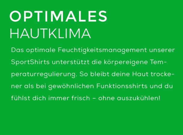 Sportshirts von wijld für ein optimales Hautklima